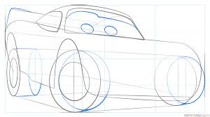 how to draw lightning mcqueen step by step drawing tutorials