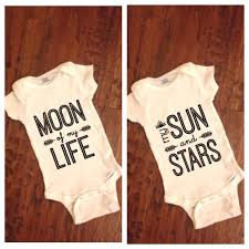set of 2 infant onesies moon of my life onesie my sun and