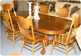 large oak dining table at carolina furniture outlet