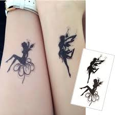 online shop shnapign double angel flash tattoo hand sticker 10 5