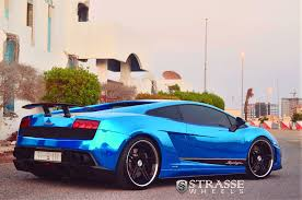 chrome blue lamborghini aventador the blue lamborghini gallardo sl lp570 4 strasse wheels