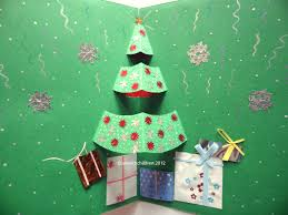 art with children christmas crafts christmas tree pop up card