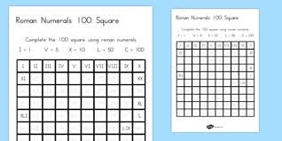 numerals fill in the number square worksheet australia