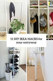 Ikea Rack Hack 11 Cool And Clever Diy Ikea Hacks For Entryways Shelterness