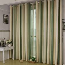Green Striped Curtains Hildebrand Vertical Stripe Thickening Of Finished Products Quality