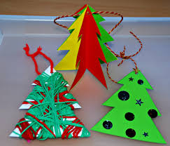 home made christmas tree decorations for the kids ofamily