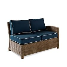 plush sectional sofas crosley catalina wicker patio round sectional sofa with sand