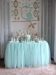 boys baby shower aqua dessert table for a boy baby shower baby showers