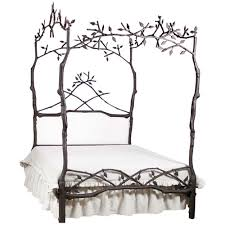 queen canopy bed enchanted forest queen canopy bed with upholstered headboard and