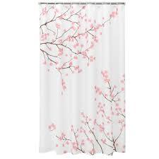 classics cherry blossom fabric shower curtain