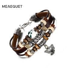 aliexpress buy new arrival cool charm vintage meaeguet genuine leather elephant charm bracelet for men cool