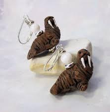 marine jewelry walrus earrings