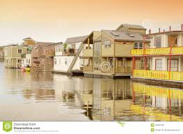 floating houses in victoria stock photo image 46407461