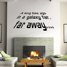 star wars living room removable star wars story quote wall stickers vinyl wall decals for