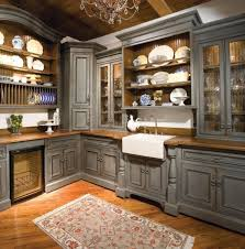 grey acrylic countertop beige oak kitchen island stainless steel