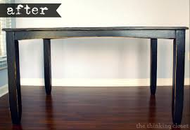 Wooden Table Surface Perspective Png Black Distressed Table Makeover U2014 The Thinking Closet