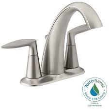 Brushed Nickel Bathroom Faucets by Kohler Alteo 4 In Centerset 2 Handle Bathroom Faucet In Vibrant