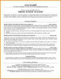 exles of teachers resumes astounding middle school resume tss worker cover letter plc