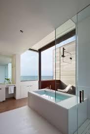 architecture amazing bathroom design white bathtub sea panoramic