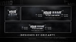template youtube photoshop cc free youtube rev template 2017 banner avatar header