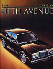 fifth avenue catalog sales chrysler fifth avenue in manuals literature ebay