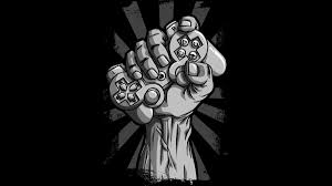 design by humans uk gamer fist in the air gaming t shirt teevo