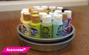 diy craft paint organizer