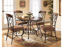ashley dining room round table w 4 side chairs rta 5 carton