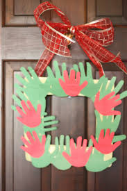 handprint christmas wreath i can teach my child