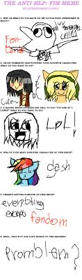 Mlp Fim Meme - anti mlp fim meme by sugarless sky on deviantart