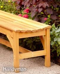Build Wood Garden Bench by How To Build A Garden Bench Family Handyman