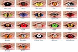 pictures color contact lenses halloween color