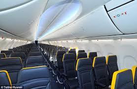 ryanair reveals redesigned cabin interior boeing 737