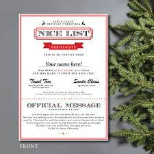 personalised nice list christmas certificate by batemandesigns