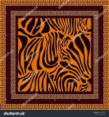 silk scarf art deco style tiger stock vector 360342806 shutterstock
