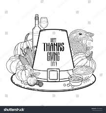 thanksgiving and kids graphic thanksgiving day art vector piligrim stock vector