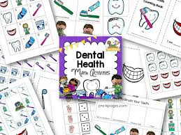 dental health math activities pre k pages