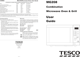 tesco com microwave oven mg208 user guide manualsonline com