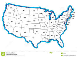 Printable Blank Map Of The United States by Clipart Maps Of The United States Collection