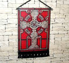 celtic cross wall hanging celtic cross tapestry black cross wall hanging