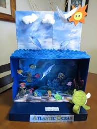 marine biome out of a shoebox just before thanksgiving she