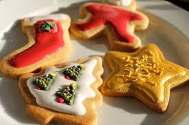 sugar cookies with ornamental frosting peanut buttered