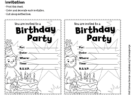 free curious george invitations templates free printable curious