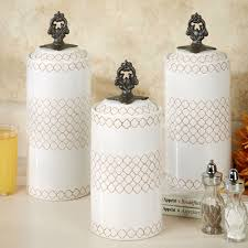 Contemporary Kitchen Canisters Safiya Moroccan White Kitchen Canister Set
