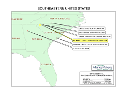 Southeastern United States Map by Maps Alliance Pickens