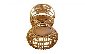 Metal Garden Chair Rattan Garden Chair U0026 Ottoman By Ico Parisi For Bonacina 1959 For