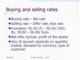 bid rate foreign exchange management