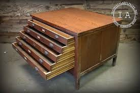 Wood Flat File Cabinet File Cabinets Collection On Ebay