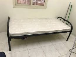 sar 150 150 single bed with matress in very low price due to