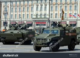 gaz tigr interior moscow russia may 7 2015rehearsal parade stock photo 401708179